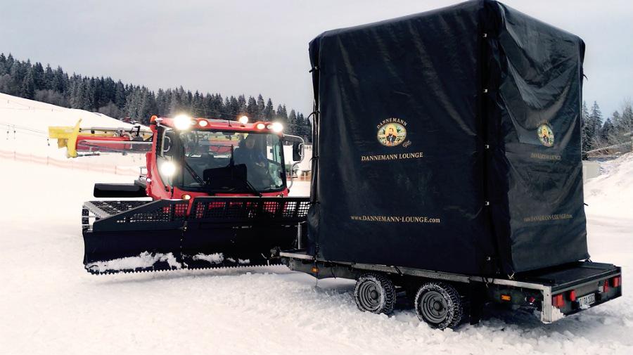 Mit 450 PS durch den Schnee – modulbox Winterlounge – allen Wetterlagen gewachsen