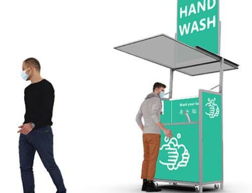Mobiles und temporäres Wasch- und Desinfektionsmodul