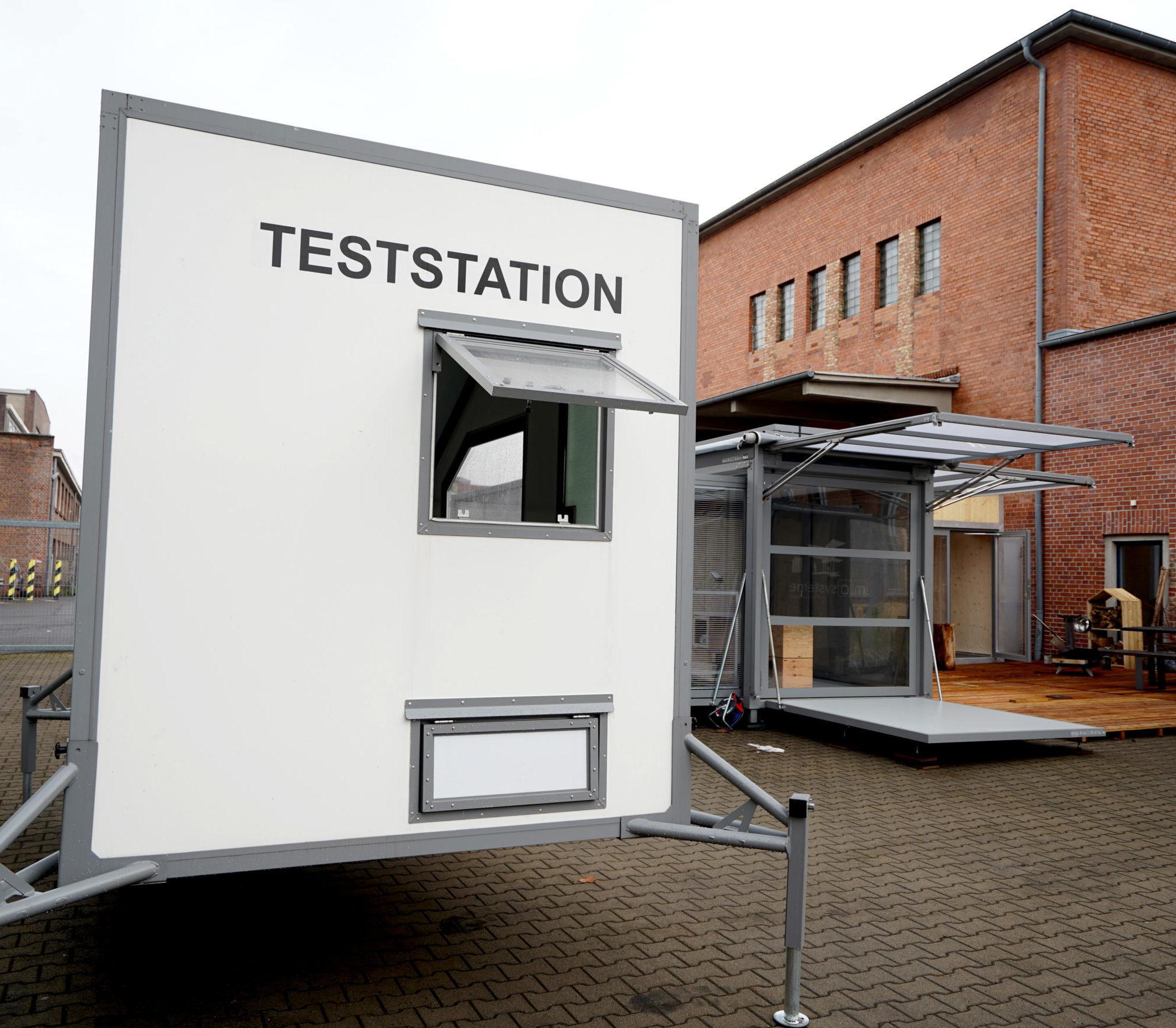 corona mobile test station