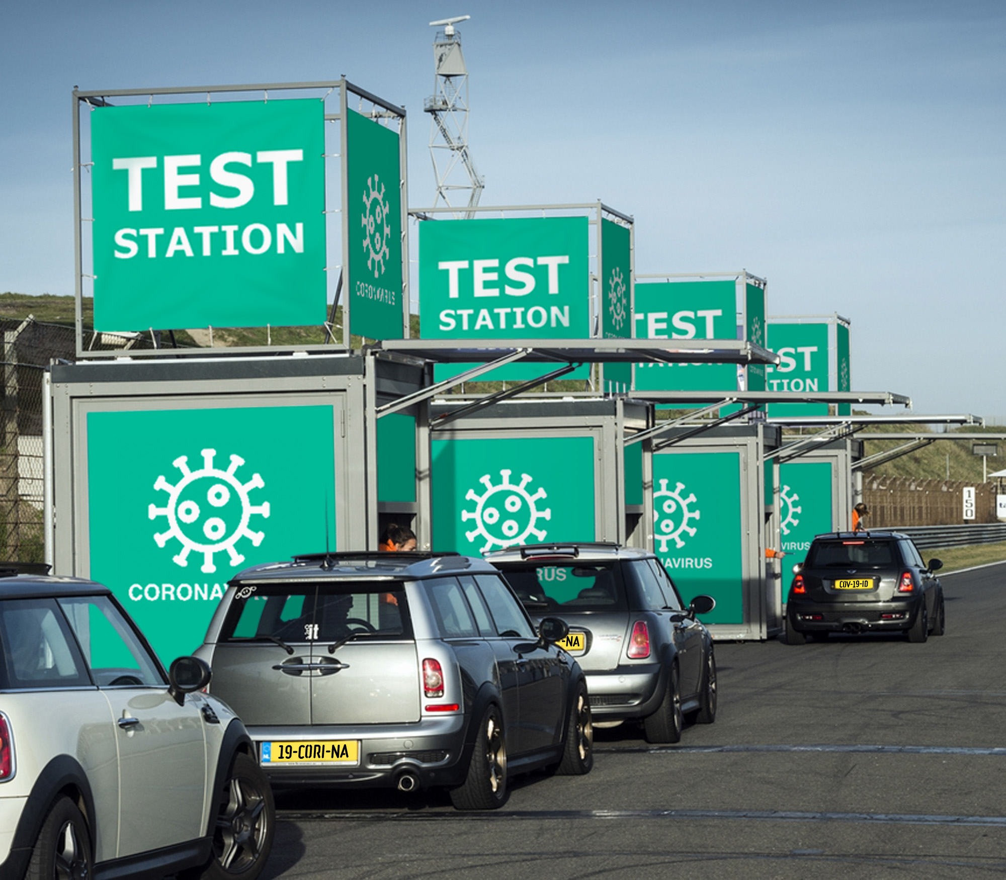 Drive-Through-Corona-Test-Station